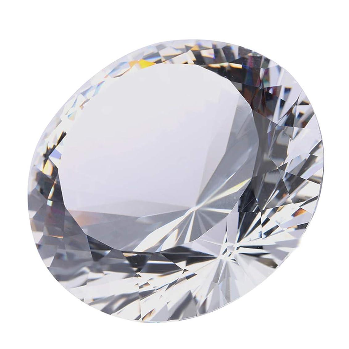 なめらか海気取らないクリアクリスタル 100mm ジュエル ペーパーウェイト ガラス ダイヤモンド デコレーション ジャイアント ダイヤモンド プロップ ウェディング ホームデコレーション