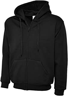 Uneek UC504 Polyester Cotton Unisex-Adults Classic Full Zip Hooded Sweatshirt