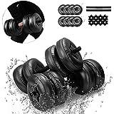 Water-Filled Dumbbells - Travel Weights Dumbbells Set Free Weights Adjustable Dumbbells for Exercise Fitness Weightlifting Training Strength Training - 5-10 KG / 15-20KG / 20-25KG
