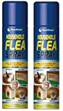 2 X 200ml Pest Shield Household Flea, Killer, Spray Ideal For Pet Beds