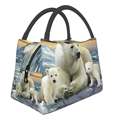 Polar BearPortable - Bolsa de almuerzo cálida impermeable, gran capacidad, para oficina, escuela, picnic y mamá