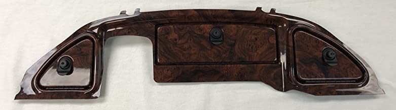 GMT Inc Simulated Dark Burled Woodgrain Three Door Golf Cart Dash Panel to fit (2008 and Up) Club Car Precedent (Will NOT FIT 2007 and Below)