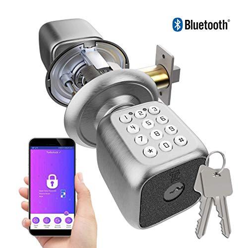 Turbolock Smart-Türschloss, digitales Codeschloss – mit automatischer Verriegelung, Batterie-Backup, einfache Installation und beleuchtete Tastatur, beige