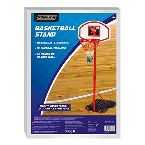 Alert g10001 Mobile Panier de Basket avec Support Ajustable 165–205 cm