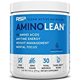 RSP Nutrition AminoLean, Pre Workout Amino Energy, Fat Burner - 30 Servings (Blue Raspberry) bcaa blue raspberries May, 2021