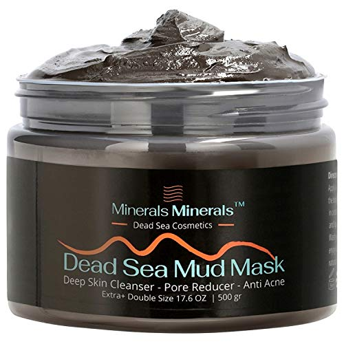 Dead Sea Mud Mask Natural 500 Gr Face and Body Skin Care, Minerals Nature Quality Skincare Spa for Women, Men - Deep Skin Cleanser, Reduces Blackheads, Acne and Pores, Oily Skin, Pure Formula for a Healthier Complexion, Double Size 17.6 Oz, Smooth Face / Body Within 5-10 Min