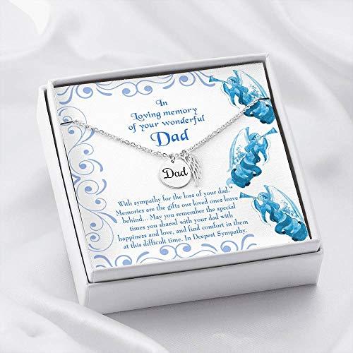 Colar em memorial da Perda de um Pai em Deepest Sympathy Gifts Perda de um Pai Lembrança