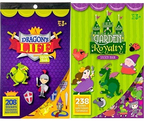 446 Fairy Tale Sticker Books- Princesses, Knights, Dragons and More!