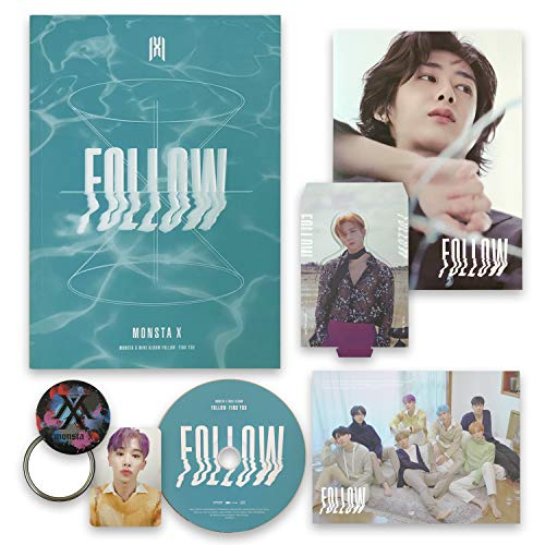 MONSTA X 7th Mini Album - FOLLOW-FIND YOU [ IV ver. ] CD + Photobook + Mini Poster + Lyrics + Photocard + Photostand + OFFICIAL POSTER + FREE GIFT / K-pop Sealed