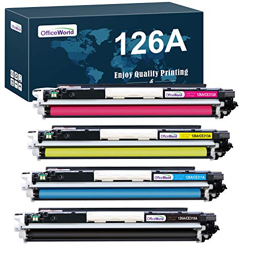 OFFICEWORLD Compatible HP 126A (CF310A CF341A CE311A CE312A CE313A) Toner Cartridges for HP Laserjet Pro 100 Color MFP M175 M175A M175nw CP1020 CP1025 CP1025nw TopShot M275 M275NW