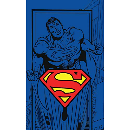 Carbotex Superman DC Comics - Toalla de baño (30 x 50 cm)
