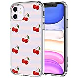 MOSNOVO iPhone 11 Case, Cherry Pattern Clear Design Transparent Plastic Hard Back Case with TPU Bumper Protective Case Cover for Apple iPhone 11 (2019)