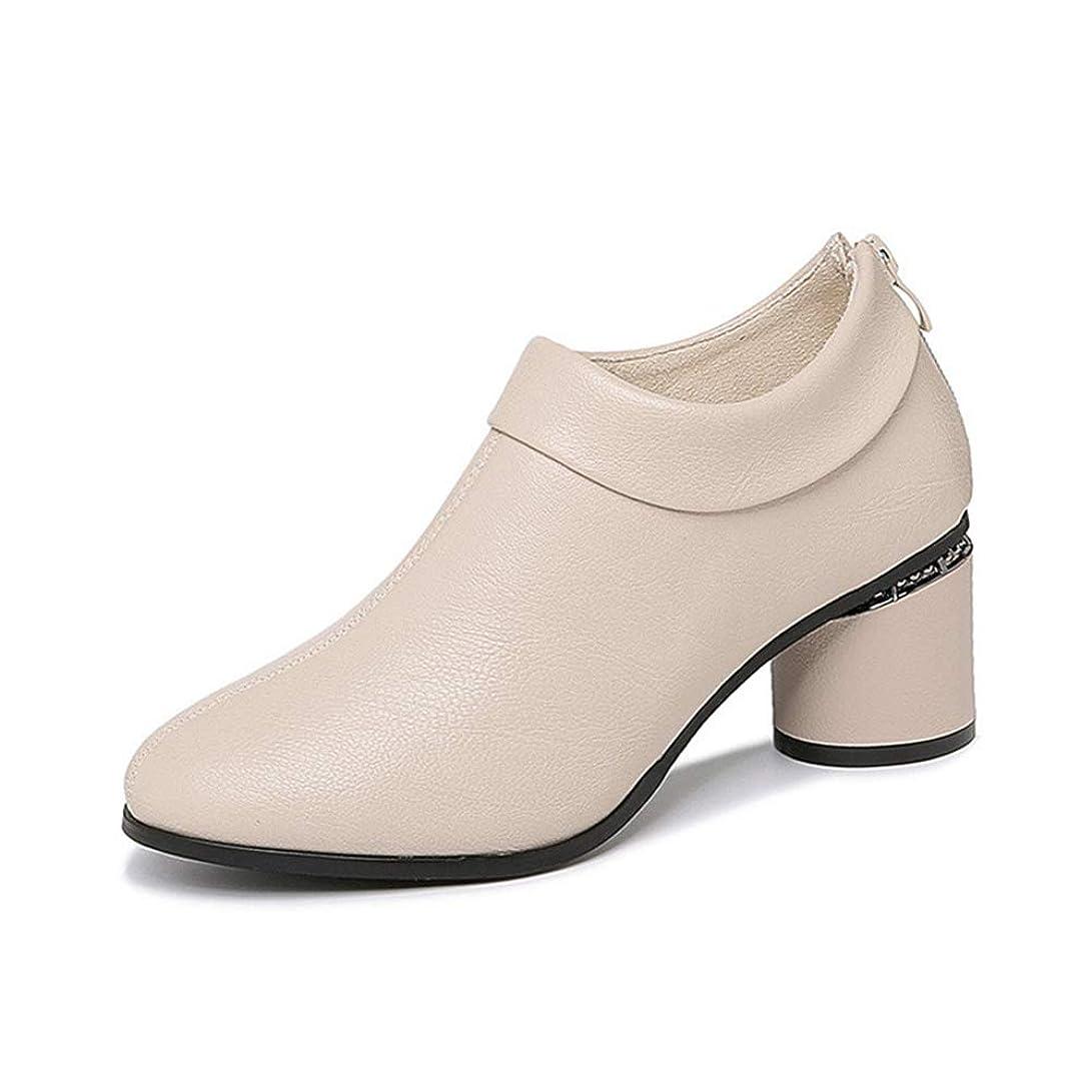 ラジエーター貨物楽しませる[XYJP] 革靴 レディース パンプス ローヒール ラウンドトゥ バックジッパー ローファー エナメル イギリス風 通勤 歩きやすい フォマール 疲れない ハイカット オフィス 美脚 カジュアル 婦人冬靴 モカシン