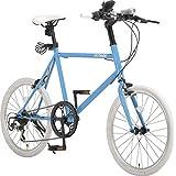 アルテージ(ALTAGE) 自転車 ミニベロ 20インチ 小径車 シマノ製7段変速 AMV-001 スカイブルー