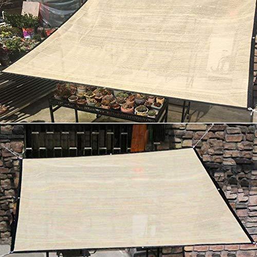 XHXseller Schattennetz, Sonnenschutzstoff, Sonnenschutztuch, Sonnenschutz, Segel, Markise, UV-beständiges Netz für Pflanzen, Outdoor, dick, hohe Dichte, Anti-UV-Sonnenschutz, nicht null, beige, 1