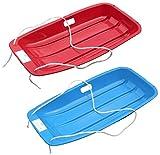Snow Speeder Pack of 2 Plastic Sled - Blue & Red