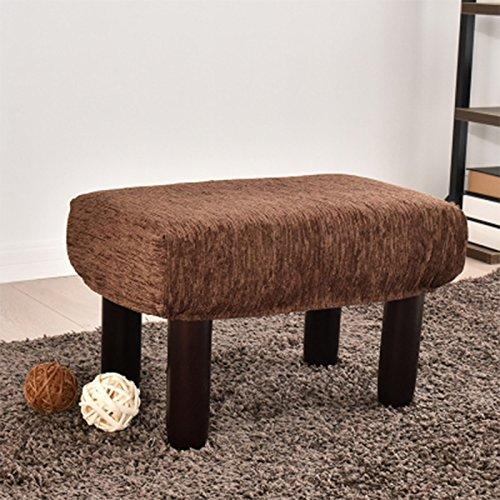 No band huishouden sofa berken kruk, donkerblauw stof bank met 4 poten beweegbare schoenen kruk voor woonkamer, 31 cm * 51 cm * 33 cm 402