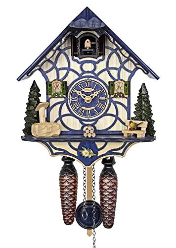 HerrZeit by Adolf Herr HerrZeit Quartz Cuckoo Clock - Magic Blue
