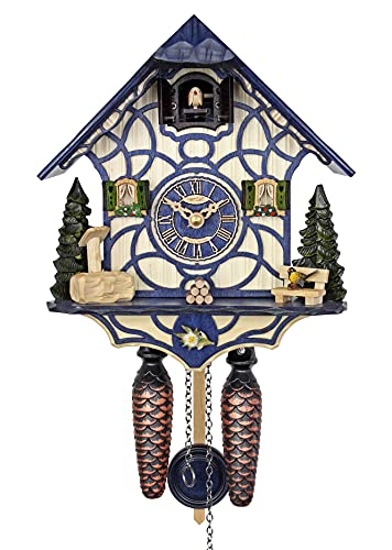 HerrZeit by Adolf Herr Quartz Cuckoo Clock - Magic Blue AH 34 QM