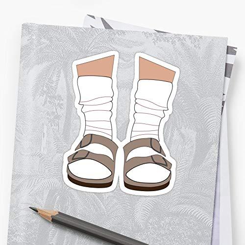 b-i-r-k-e-n-s-t-o-c-ks Socken Aufkleber 3 Stück für Auto, Laptop, Telefon, Gepäck, Skateboard, Motorrad, Fahrrad, Aufkleber für Teenager, Mädchen, Jungen, Erwachsene, lustig