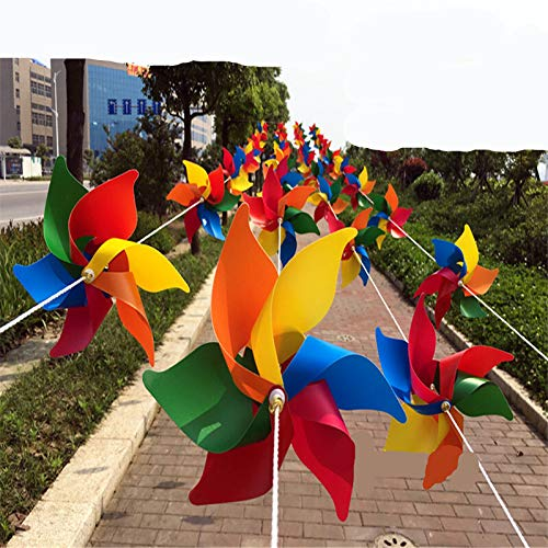 (10 Stück)Windspiel Windrad Windspiele Geeingnet für Gärten / Terrassen / Balkone und ebenso ein schönes Spielzeug für Kinder