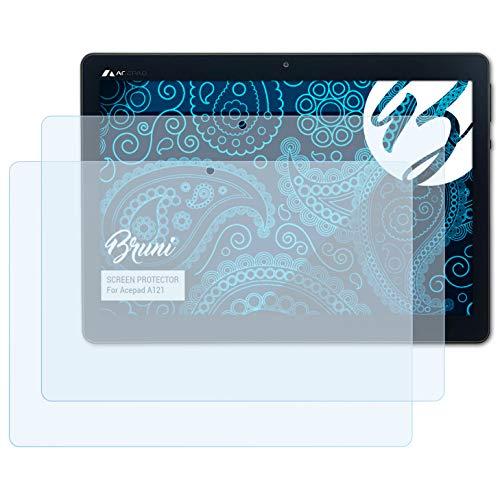 Bruni Schutzfolie kompatibel mit Acepad A121 Folie, glasklare Displayschutzfolie (2X)
