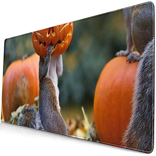 Halloween eekhoorns pompoen masker muismat muismat muismat antislip rubber duurzaam