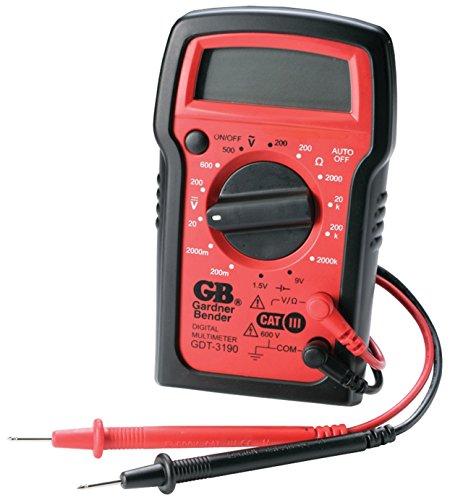 GB Gardner Bender GDT-3190 14 Range 4-Function Digital Multimeter With Rubber Boot