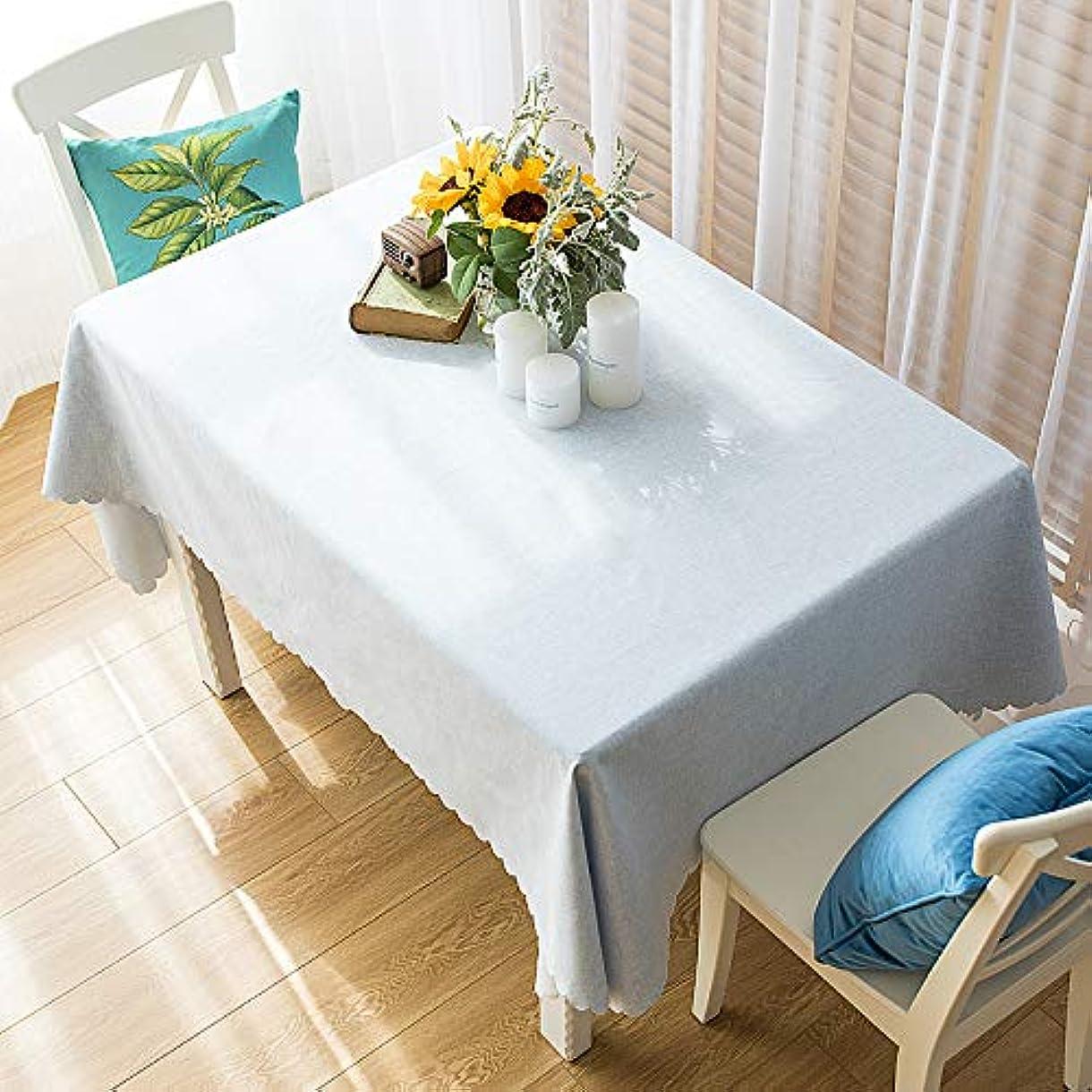 悲しむやめるマークされたテーブルクロス テーブルカバー 無地 厚手 北欧風 長方形 水洗い エレガント 装飾 65*65cm 水色 お手入れ簡単