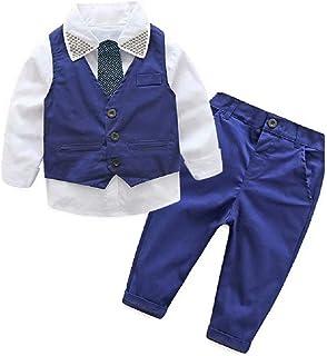 Hooyi Conjunto de 4 trajes de esmoquin para caballero para niños de 2 a 7 años