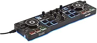 Hercules DJControl Starlight – Draagbare USB DJ Controller - 2 tracks met 8 pads en audioversterker - Serato DJ Lite meege...
