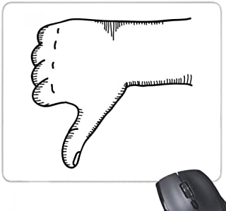 DIYthinker Ridicule Gesture Line Drawing Pattern Mouse Pad Non-Slip Rubber Mousepad Game Office