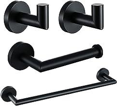 XYZMDJ Zwarte Badkamer Hardware Set Handdoek Bar Rack Toiletpapier Houder Robe Haak Rvs Goud Badkamer Accessoires