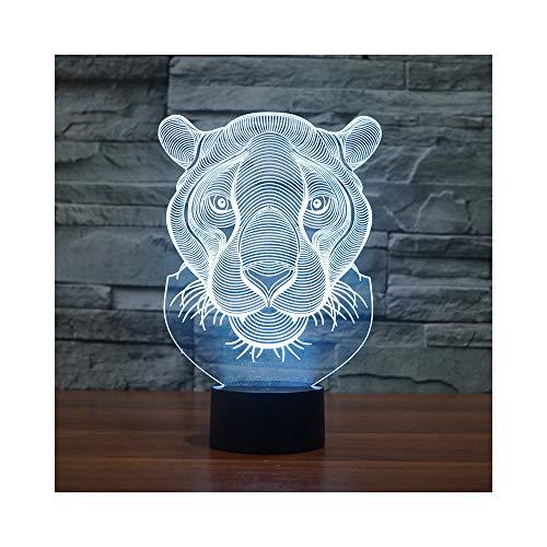Luz de noche de animal leopardo creativo regalo electrónico fuente de toque colorido lámpara de mesa de gradiente