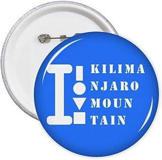 Kilimanjaro Mountain Art Déco Cadeau Mode Pin's Badge Badge Emblème Accessoire Décoration 5pcs