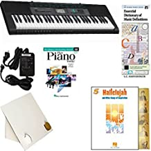 Homeschool Music - Learn to Play the Piano Pack (Hallelujah Songs of Inspiration Bundle) - Includes Casio CTK 2550 Keyboard w/Adapter, learn 2 Play DVD/Book, Books & All-Inclusive Learning Essentials