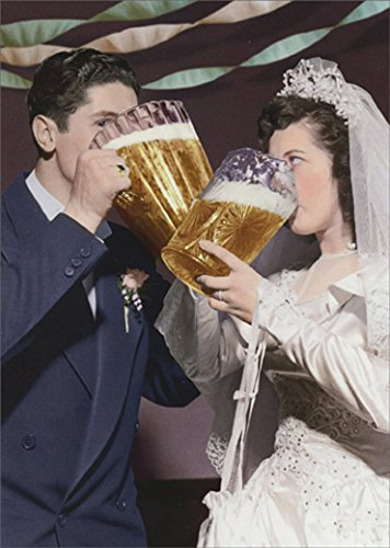 Avanti Wedding Beer Couple Funny Wedding Card