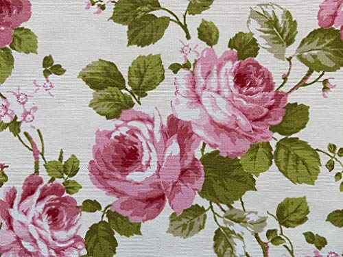 Provencestoffe.com Wunderbarer romantischer Rosenstoff, Breite 280 cm, pflegeleicht, Meterware