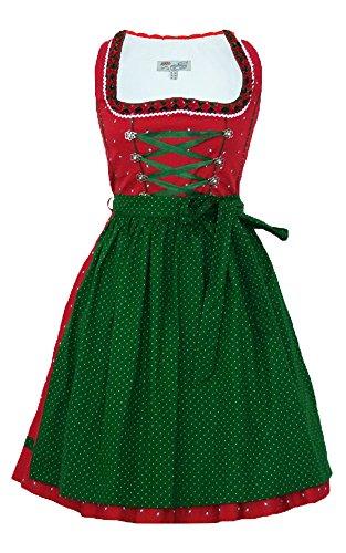 Country Life Lekra Dirndl Luisa - Rot Grün 55cm - Gr. 32