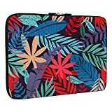 Banana Tropical Leaves Laptop Sleeve 13-13.3 Inch, Water Repellent Neoprene Light Weight Computer Skin Bag, Notebook Carrying Case Cover Bags