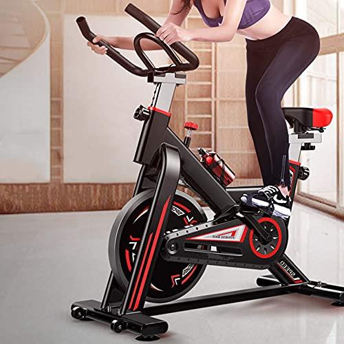 Bicicletas estacionarias Bicicleta de ejercicio para interiores, bicicletas de spinning para gimnasio en casa, entrenamiento cardiovascular, bicicleta deportiva, asiento y manillar ajustables, con asi