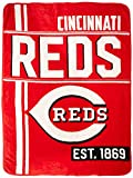 Northwest MLB Cincinnati Reds Micro Raschel Throw, One Size, Multicolor