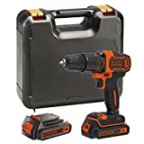BLACK DECKER BDCHD18KB-GB, Cordless Combi Drill with Kitbox, 18 V and 2 Batteries