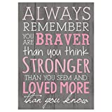 P. Graham Dunn Always Remember You are Braver Than You Think 4x6 Tabletop Mini Wall Sign