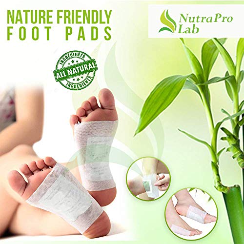 Bamboo Vinegar Foot Pads Foot & Body - All Natural & Premium Ingredients for Best Relief & Results - Apply, Sleep & Feel Better - No Stress Packaging, - 15 Pack