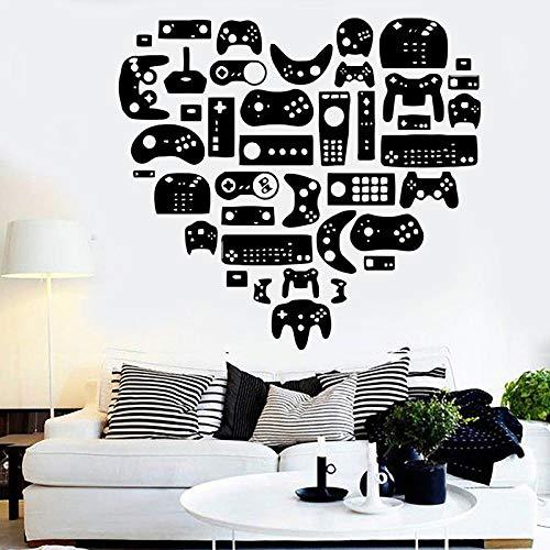 Pegatina De Pared,Xbox Gamer Calcomanía Eat Sleep Game Controlador De Videojuegos Calcomanías De Pared Personalizadas Para Habitación De Niños Vinilo Pared Arte Calcomanías A11-007,Talla:45Cm×65Cm