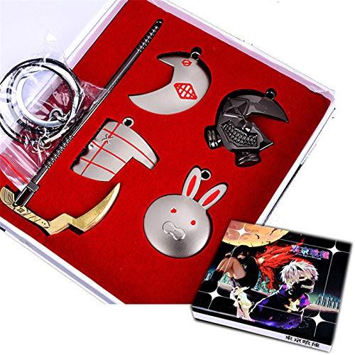 Nobranded Tokyo Ghoul Halsketten COS Kaneki Ken Maske Touka Kirishima Juzo ya Sichel Halskette Anhänger Zubehör Figur Spielzeug Set