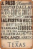 No/Brand Texas Tin Sign Wall Decor Retro Metal Poster