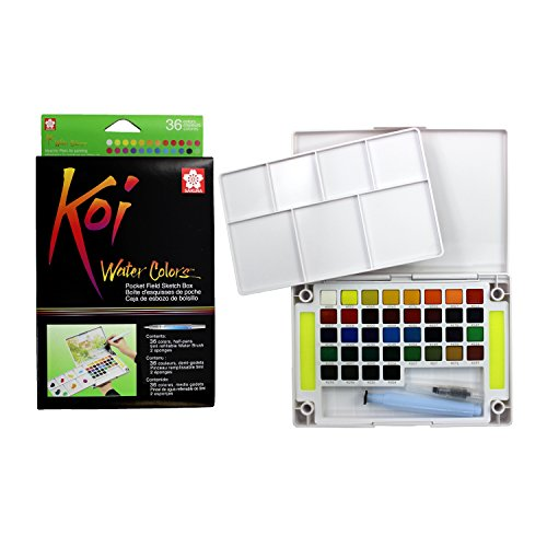 Sakura Pocket Set Koi Watercolor Kit, 36 Color Count