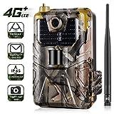 4G LTE Trail Camera 16MP 1080P, caméra de Chasse sans Fil IP65/came de Scoutisme, Motion Activated...